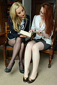 Sophia Smith gets horny with her teacher in the library