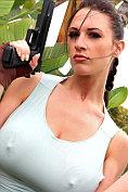 Lana Kendrick does her Lara Croft impersonation