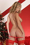 Sizzling gorgeous blonde babe Zuzana Drabinova in red lingerie stripping naked