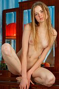 Sexy blonde teen Avril A poses naked for us