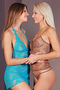 Eufrat and Pinky June have lesbian sex together