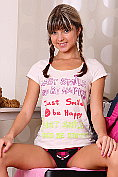 Cute teen Gina Gerson strips naked for us