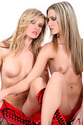 Two fabulous blondes strip for you at VirtuaGirlHD