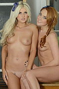 Courtney Tugwell and Lucy-Anne Brooks strips each other naked in the classroom