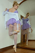 Ballet teacher Miss du Bois ends up naked in front of the mirror