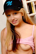Lexi Belle in her Nubiles baseball outfit