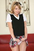Lexi Belle slowly takes off her cute little uniform