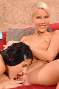 Sweet lesbos toying