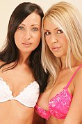 Gorgeous blonde and brunette couple