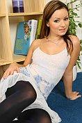 Jana Mrazkova does a sexy striptease for us