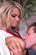 Ashlynn Brooke rides a monster cock