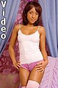 Kaula strips and masturbates with her dildo