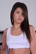 Shyla strips out of her little wifebeater and tight panties
