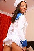 Carla Brown in sexy sailor girl outfit