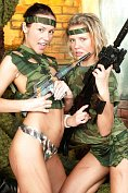 Army babes get sexy together