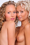 Gorgeous blondes Nicolle and Anju get together in the kitchen