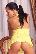 Madison (Klara Smatanova) takes off her yellow dress and panties