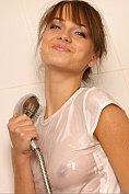 Maya takes a sexy shower at MPL Studios