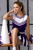 Ashlynn Brooke strips out of her cheerleader costume