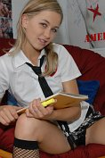 Teen Kasia Schoolgirl Knee Socks