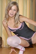 Teen Kasia - Pin striped Lingerie