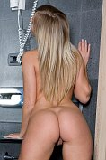 Chikita naked in the bathroom