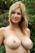 Carol Goldnerova shows off her amazing body in the garden
