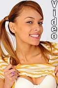 Nubile Valerie Rios shows off her perfect teen frame before masturbating