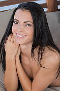 Beautiful babe Sapphira takes off her lingerie and masturbates naked