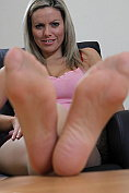 Kate Banks showing off her feet