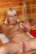 Lena Cova gets naked and spreads