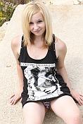 Adorable virginal teenager feels her wet clit