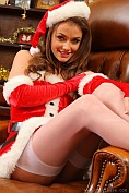 Jess Impiazzi makes for a real treat at christmas in her sexy santa outfit