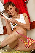 Erotic football teenager playing with herself