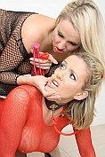 Kinky sex threesome with Dannii Harwood