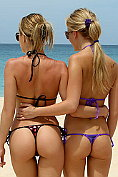 Blue Angel and Sara Jaymes get sexy on the beach