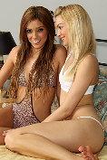 Franziska Facella and Melaine Rios get off together