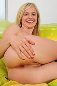 Horny Nubile Bella Anne tortures her moist pussy with a dildo