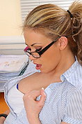 Leah Francis gets all horny in the office