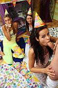 Beautiful teen Kiki gets shocking birthday present