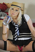 Syren Sexton slips out of her slutty school uniform