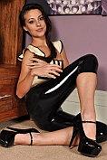 Lorena G looks so hot in latex