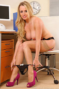 Holly Gibbons does a sexy striptease in the office