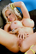 Michelle Thorne strips naked and shows everything