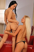 Lesbian lovers licking and finger fucking