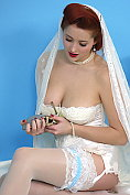 Lucy V as your sweet yet sexy bride wants to take you for a new sexy adventure