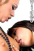 Seductive amateur British teen lesbians Natalia and Renee licking their hot tits and fingering slick beavers