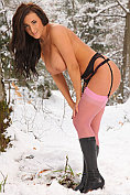 Stacey P undressing in the snow