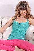 Horny Nubile Adrianne drills her juice box with a vibrator