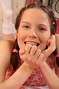 A horny brunette loves to insert her dildo